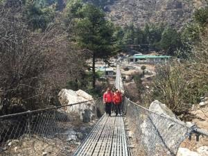 Crossing our last bridge