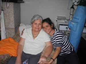 A special moment with my beloved Mama Telle - April 2013, I was playing with her Oxygen.